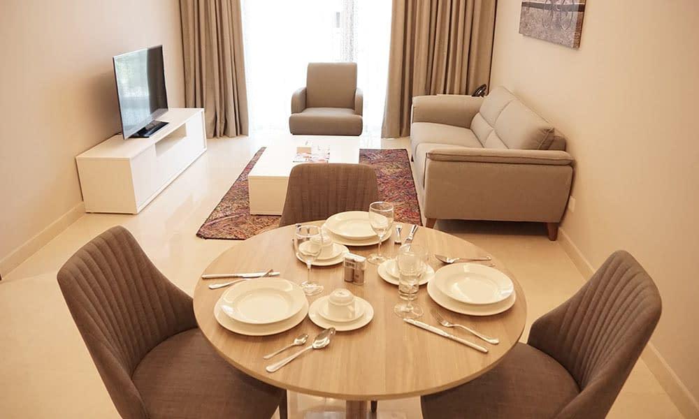 One Bedroom Deluxe Suite Dining Area