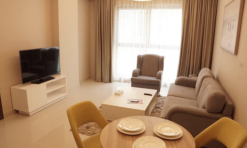 One Bedroom Deluxe Suite Sitting Room