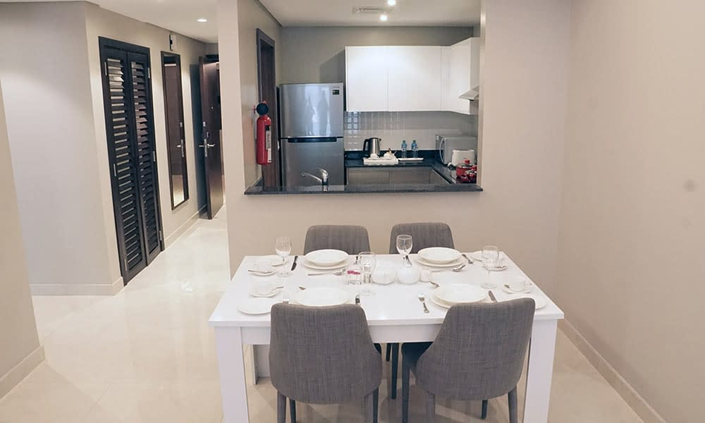 Two Bedroom Executive Suite Dining Area & Kitchenette